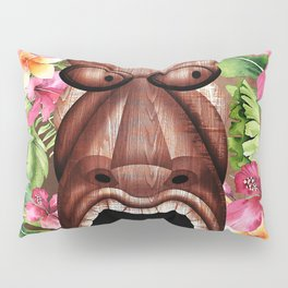 Tropical Hibiscus Tiki Pillow Sham