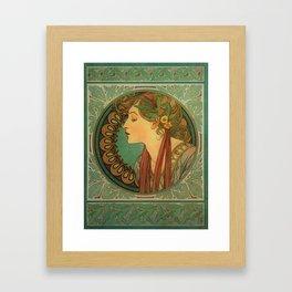 Alphonse Mucha Laurel Framed Art Print