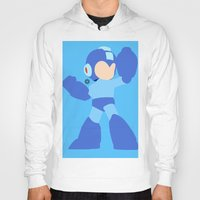 mega man Hoodies featuring Mega Man(Smash)Black by ejgomez