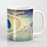 peacock Mugs featuring Peacock Feather  by Love2Snap