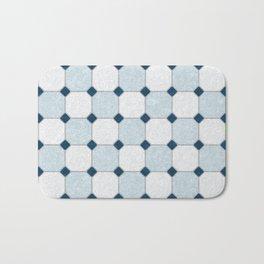 Sky Blue Classic Floor Tile Texture Bath Mat