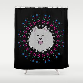Samoyed Star Stuff Shower Curtain