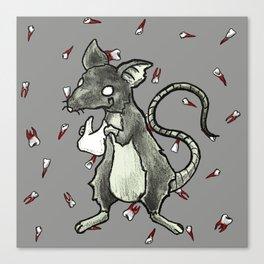 Dirty Rat bloody Teeth Canvas Print