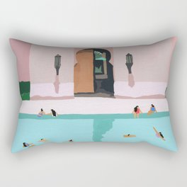 Middle Eastern Swims Rectangular Pillow