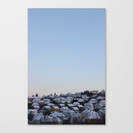 Snowy rooftops Canvas Print
