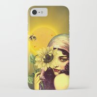 sunflower iPhone & iPod Cases featuring SUNFLOWER by Julia Lillard Art