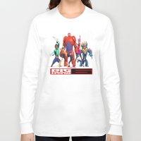 big hero 6 Long Sleeve T-shirts featuring Big Hero 6 by ezmaya