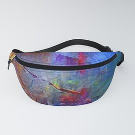 Intensity of Blue Digital Painting Fanny Pack