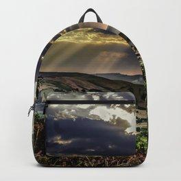 Landscape photograph of, Sunshine over Hope valley, Peak District, U.K. Backpack