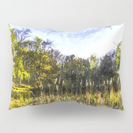 The Bulrush Pond Art Pillow Sham