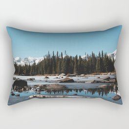 Red Rocks Lake Rectangular Pillow