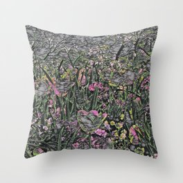 GALATHI Flower Spring is Here Chalk - Flowers Throw Pillow