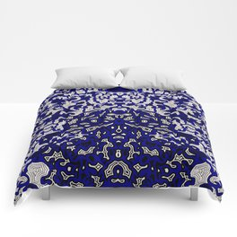 Bled Out Blue Comforters