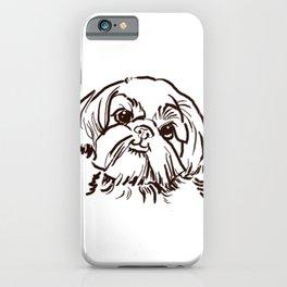 The sweet Shih Tzu dog love of my life! iPhone Case