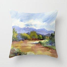 Distant Santa Fe Throw Pillow