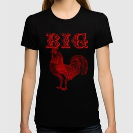 Big Red Rooster Humorous Print T-shirt