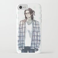 bucky barnes iPhone & iPod Cases featuring accidental hipster bucky by steammmpunk
