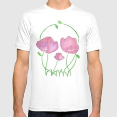 Tulip Skull White MEDIUM Mens Fitted Tee