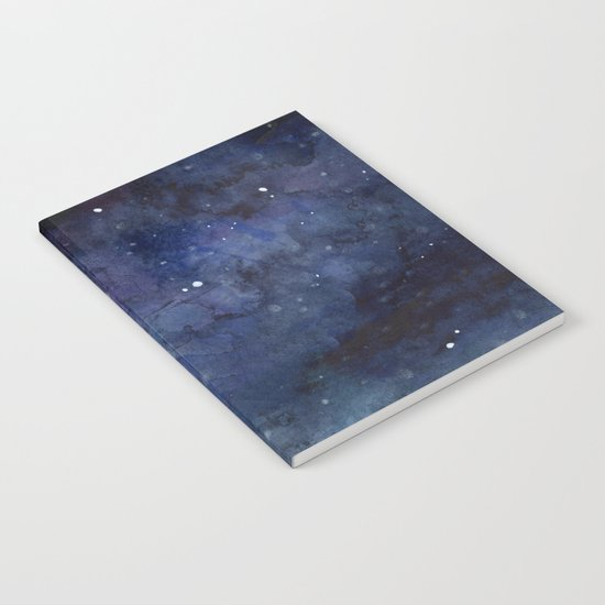 Night Sky Stars Galaxy | Watercolor Nebula Notebook