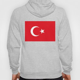 National flag of Turkey, Authentic color & scale Hoody