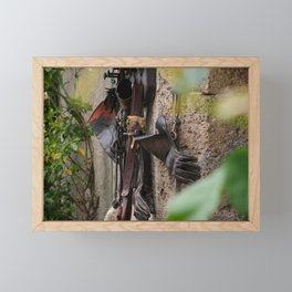Falconers supplies hanging on the wall Framed Mini Art Print