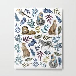 African Animals Print Metal Print