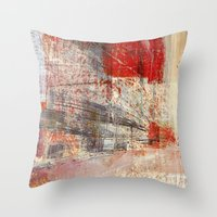 subway Throw Pillows featuring Subway by Fernando Vieira