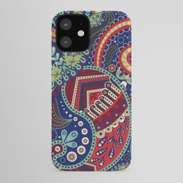 Colorful khohloma pattern iPhone Case