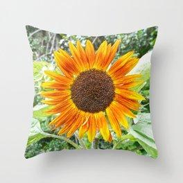 Orange Sunflower NYC Throw Pillow