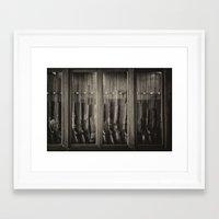 guns Framed Art Prints featuring Guns by Aaron MacDougall