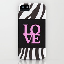 Love and black & white iPhone Case