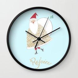 Romanian Santa -Rejoice Wall Clock