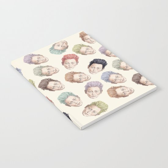 Tilda Heads on Cream | Hair Pattern Notebook