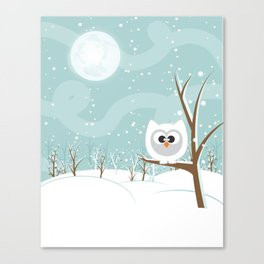 Arctic Owl Canvas Print