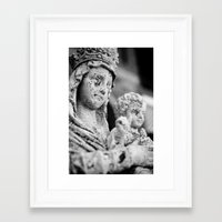 madonna Framed Art Prints featuring Madonna by Andrea Basile