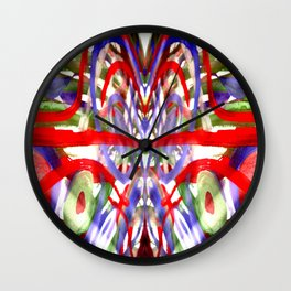 Color and lines in space Wall Clock