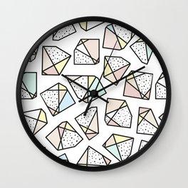 Polygonal stones and gemstones Wall Clock
