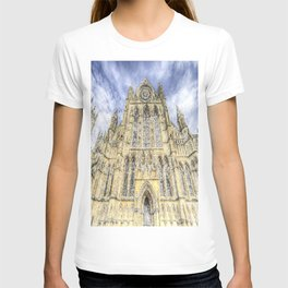 York Minster Cathedral Snow Art T-shirt