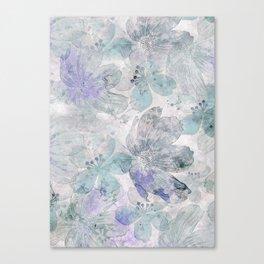 Nostalgic Pastel Flower Art Canvas Print