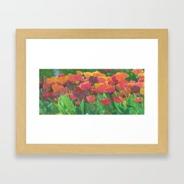 Tulips even make instant coffee taste better. Okay, I lied. Framed Art Print