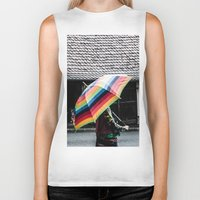 umbrella Biker Tanks featuring umbrella by Deviens