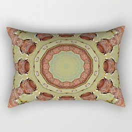 Rust-Mandala 01, Colors of Rust, ROSTart Rectangular Pillow
