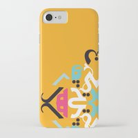 arabic iPhone & iPod Cases featuring Orange Arabic by Farah Saheb