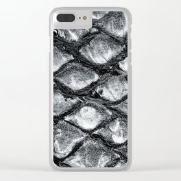 Palm tree trunk pattern Clear iPhone Case