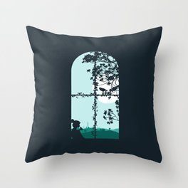 Mad World II Throw Pillow