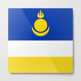Flag of Buryatia Metal Print
