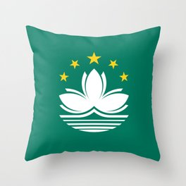 Flag of Macau Throw Pillow
