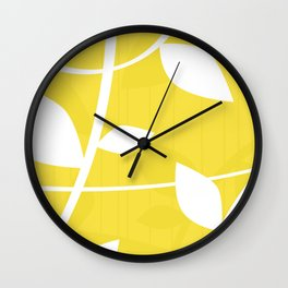 Vine in Yellow by Friztin Wall Clock