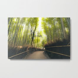 Solace in Greens Metal Print