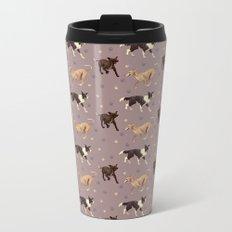Rescue Dogs Pattern Metal Travel Mug